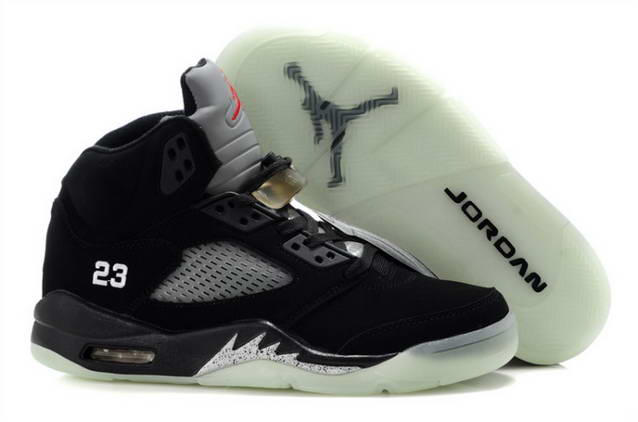 Womens Jordan V Shoes Black/White